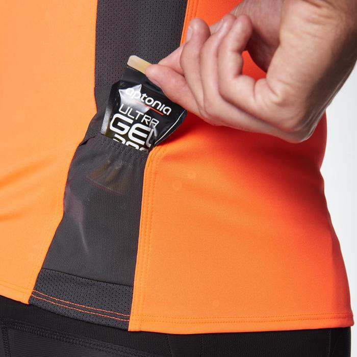Tee shirt manches courtes trail running gris jaune homme - 1078485