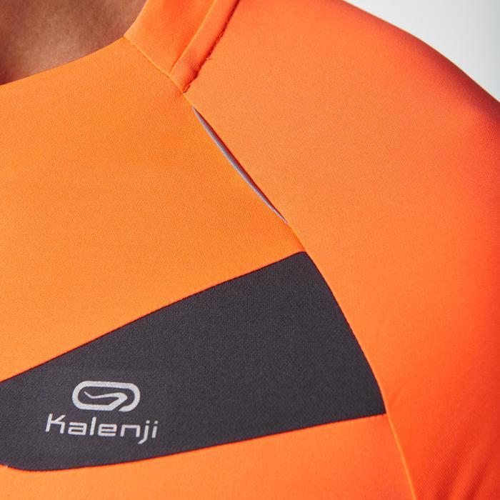 Tee shirt manches courtes trail running gris jaune homme - 1078512