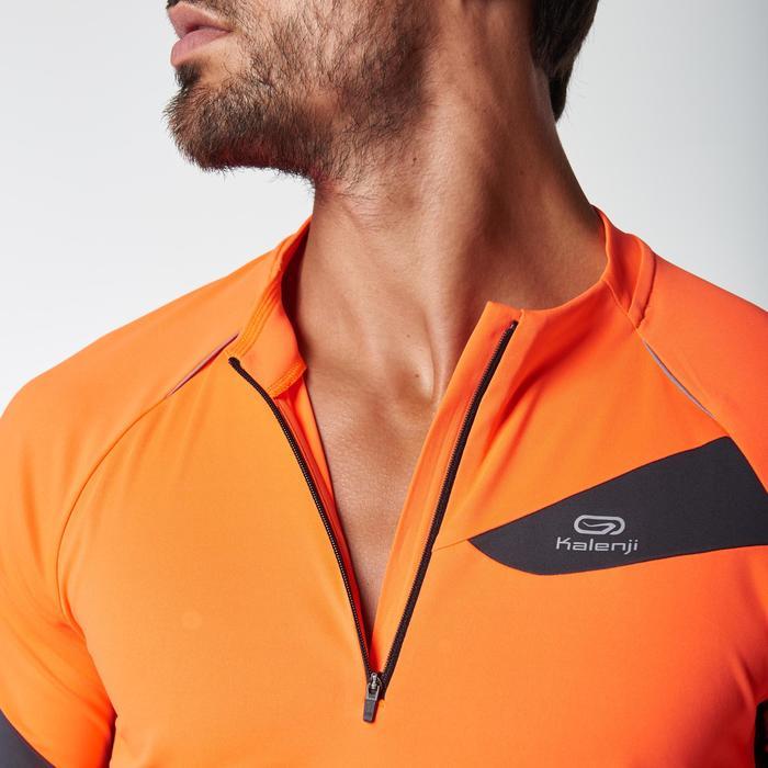 Tee shirt manches courtes trail running gris jaune homme - 1078527