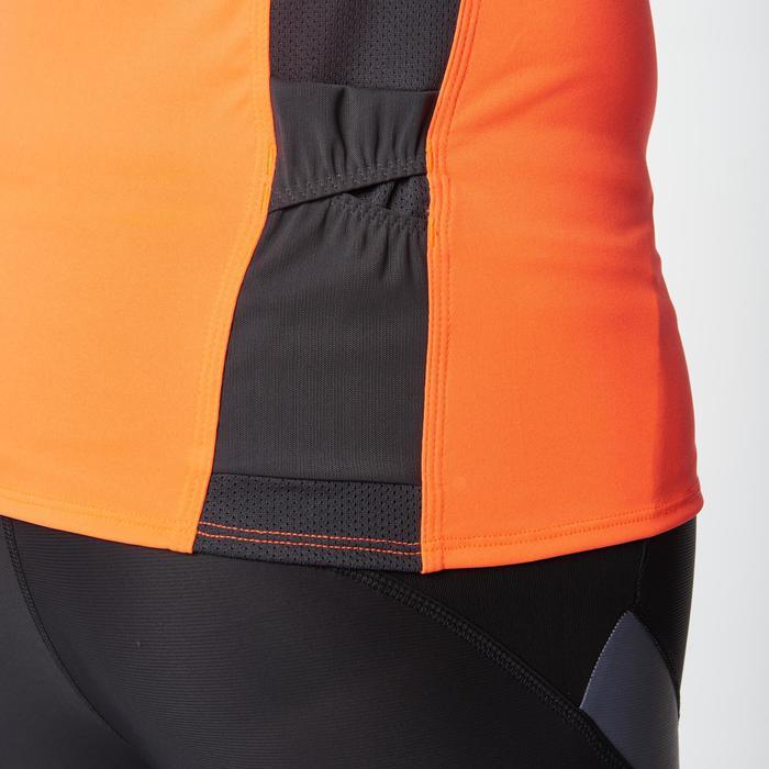 Tee shirt manches courtes trail running gris jaune homme - 1078530