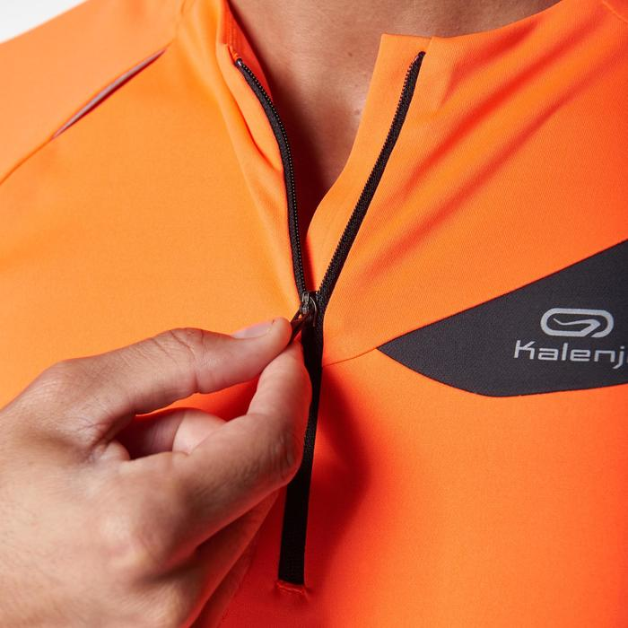 Tee shirt manches courtes trail running gris jaune homme - 1078546