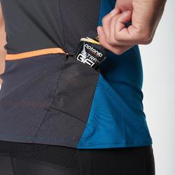 Camiseta de manga corta perf trail running hombre azul negro