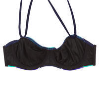 Women's Underwired Bandeau Swimsuit Top With Removable Neck Tie - Malibu