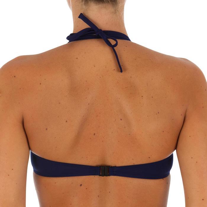 Haut de maillot de bain femme bandeau armatures avec lien cou amovible - 1078631