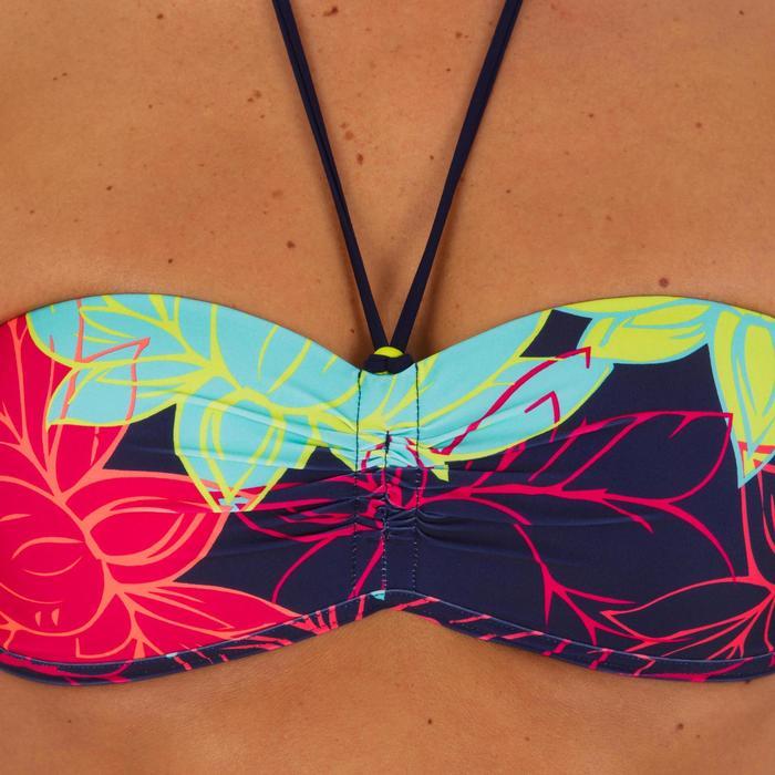 Sujetador de bikini para mujer forma banda con copas fijas LAETI LOTUS