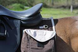 Zadeldek Sentier ruitersport paard bruin - 107869