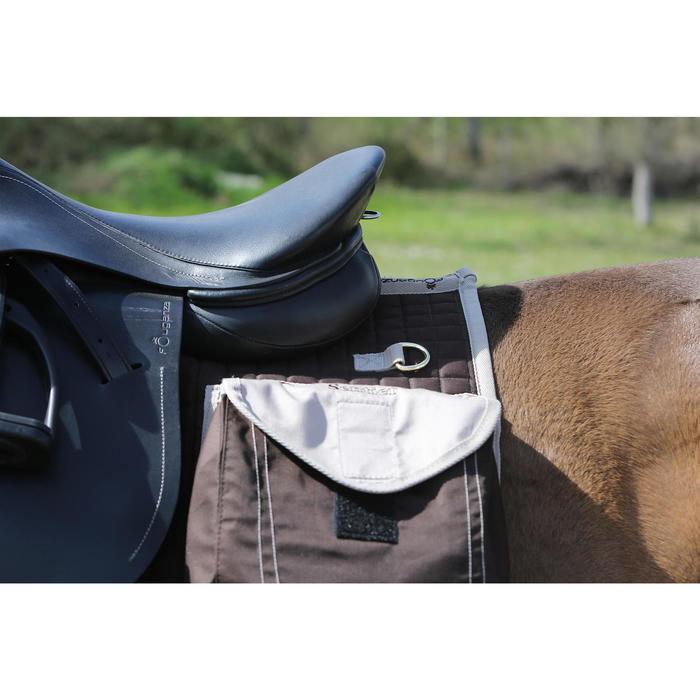 Tapis de selle équitation randonnée cheval SENTIER marron - 107869