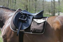 Zadeldek Sentier ruitersport paard bruin - 107870