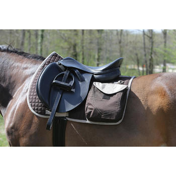 Tapis de selle équitation randonnée cheval SENTIER marron - 107870