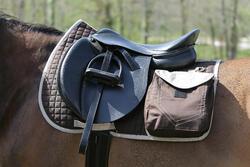 Zadeldek Sentier ruitersport paard bruin - 107871