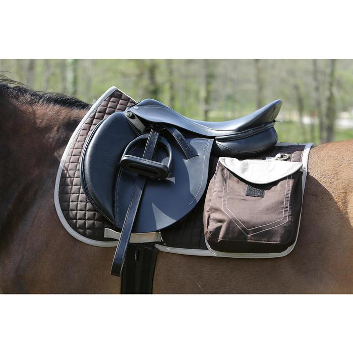 Tapis de selle équitation randonnée cheval SENTIER marron - 107871
