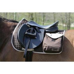 Tapis de selle équitation randonnée cheval SENTIER marron