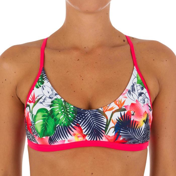 Haut de maillot de bain femme brassière de surf avec coques AGATHA FACET - 1078786