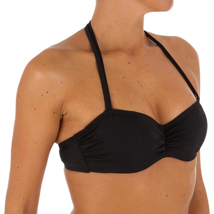 Haut de maillot de bain femme bandeau armatures avec lien cou amovible - 1078801