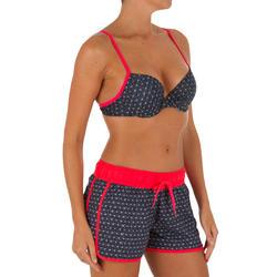 Korte dames boardshort Tini Isiketu met elastische tailleband en aantrekkoordje - 1078909