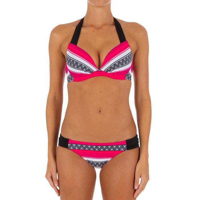Bas de maillot de bain de surf femme plissée côté NIKI - 1078931