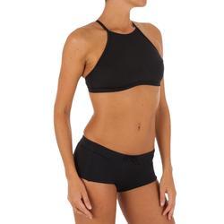 Top Bikini Surf Sujetador Deportivo Olaian Ajuste Espalda Andrea Mujer Negro