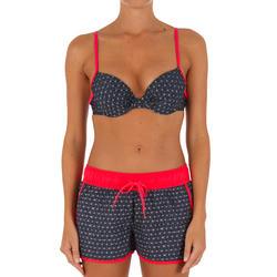Korte dames boardshort Tini Isiketu met elastische tailleband en aantrekkoordje - 1078942