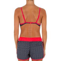 Korte dames boardshort Tini Isiketu met elastische tailleband en aantrekkoordje - 1078951