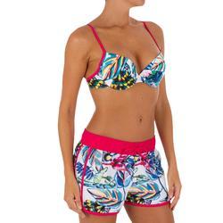 Boardshort corto mujer TINI FESTA con cintura elástica y cordón
