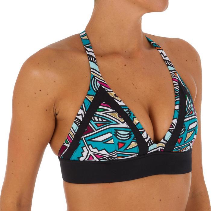 Sujetador bikini mujer forma top de surf ISA NCOLO con espalda ultra descubierta