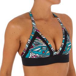 Bikinitop Isa zonder sluiting en met ultravrije rug, voor surfen