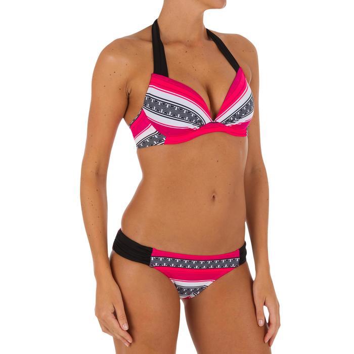 Bas de maillot de bain de surf femme plissée côté NIKI - 1079243