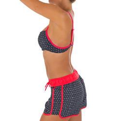Korte dames boardshort Tini Isiketu met elastische tailleband en aantrekkoordje - 1079251