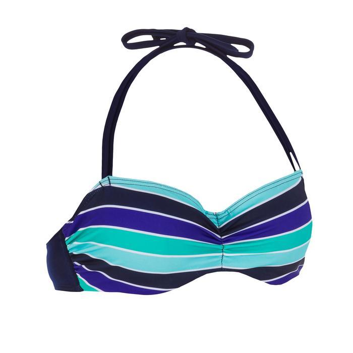 Haut de maillot de bain femme bandeau armatures avec lien cou amovible - 1079274