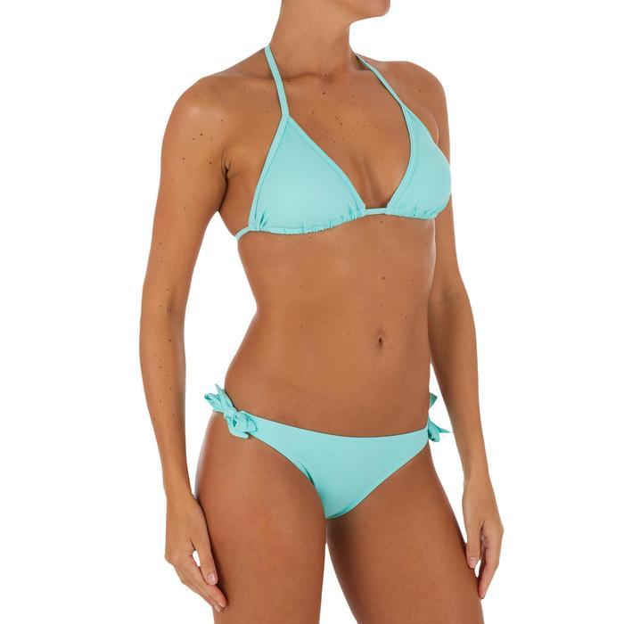 Haut de maillot de bain femme triangle coulissant avec coques MAE CORAIL - 1079411