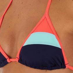 Haut de maillot de bain femme triangle coulissant avec coques MAE COLOR BLOCK FR