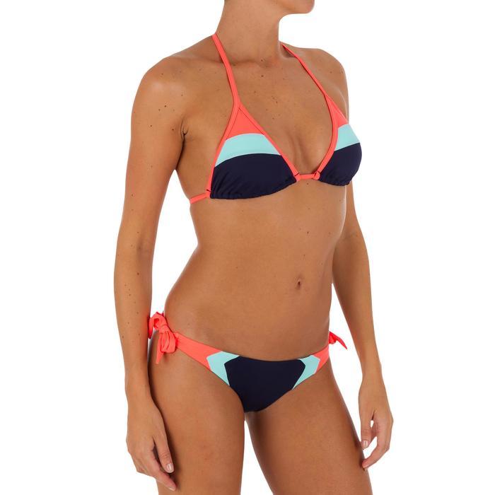 Haut de maillot de bain femme triangle coulissant avec coques MAE COLOR BLOCK FR - 1079465