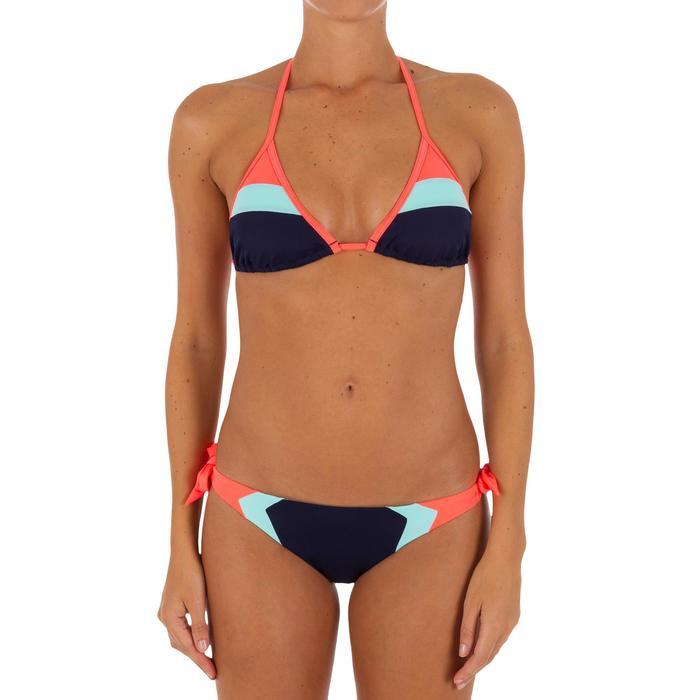 Bas de maillot de bain de surf femme échancrée et nouée côtés SABI COLORB