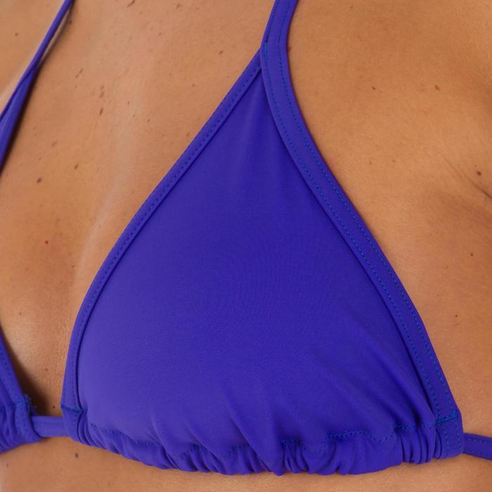 Bikini-Oberteil Triangel Mae Basic Damen blau