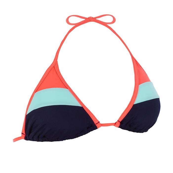 Bikini-Oberteil Triangel Mae Color Block verschiebbar mit Formschalen Damen