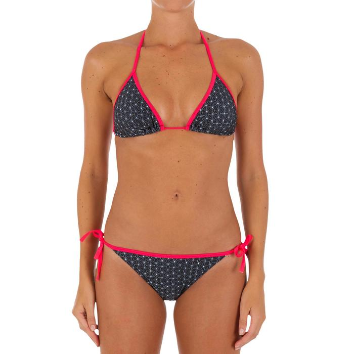 Haut de maillot de bain femme triangle coulissant avec coques MAE COLOR BLOCK FR - 1079602