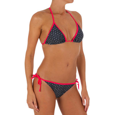 Mae Women's Sliding Triangle Swimsuit Top with Padded Cups - Mosaica