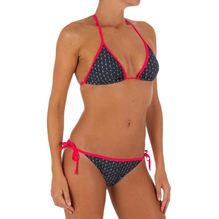 Haut de maillot de bain femme triangle coulissant avec coques MAE COLOR BLOCK FR - 1079605