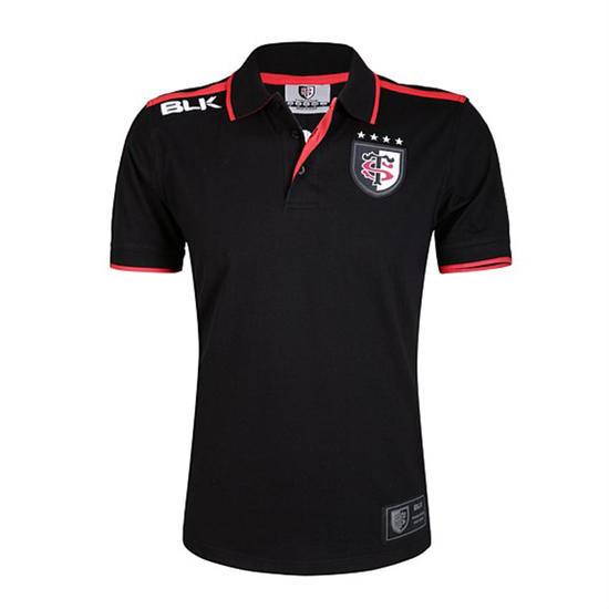 Rugbyshirt Stade Toulousain volwassenen zwart - 1079621