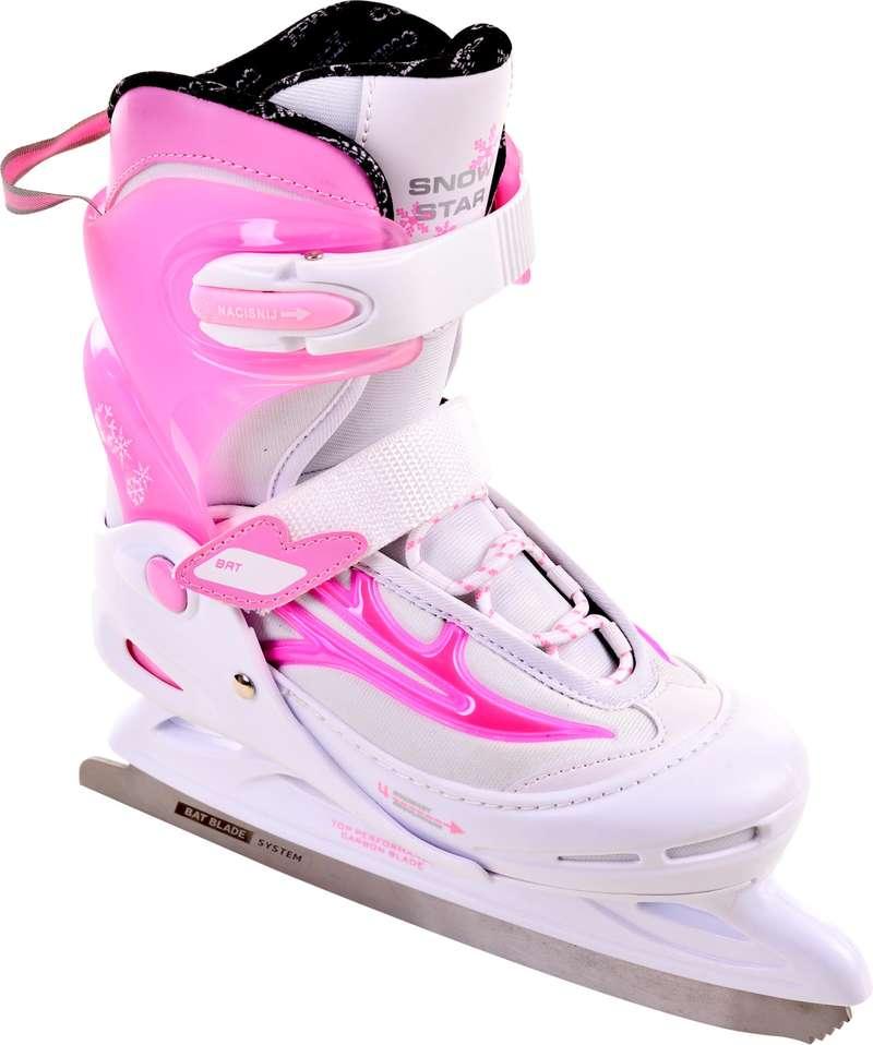 Łyżwy rekreacyjne dla dzieci Łyżwiarstwo - Łyżwy Bat SNOWSTAR Girl BROYX - Łyżwiarstwo