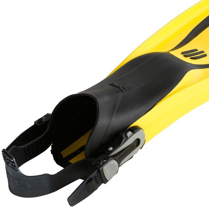 Palmes de plongée bouteille réglables AVANTI TRE SUPERCHANNEL ABS jaunes noires - 1079855