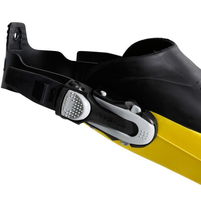 Palmes de plongée bouteille réglables AVANTI TRE SUPERCHANNEL ABS jaunes noires - 1079917