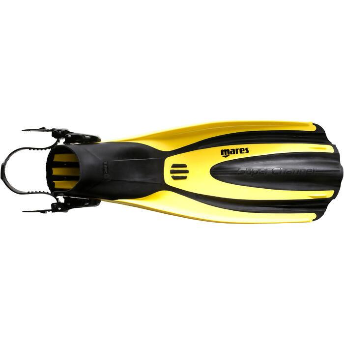 Palmes de plongée bouteille réglables AVANTI TRE SUPERCHANNEL ABS jaunes noires - 1079934
