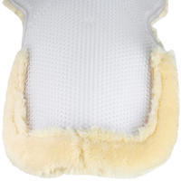Polygel Horse Riding Fleece/Gel Saddle Pad For Horse And Pony - Beige