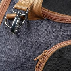 Sac de transport matériel équitation 55 L gris et camel