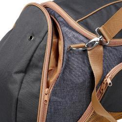 Bolsa de transporte material equitación DUFFLE 55 L gris y camel