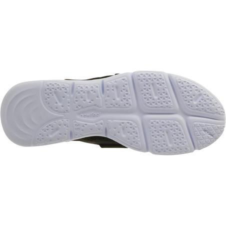 Espadrille marche sportive femme Soft 180bande noir/blanc