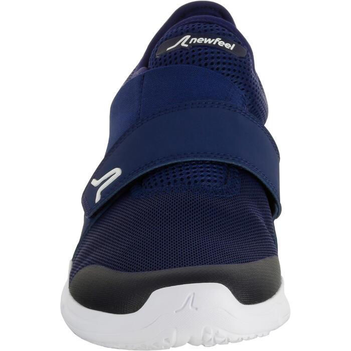 Herensneakers voor sportief wandelen Soft 180 strap blauw/wit