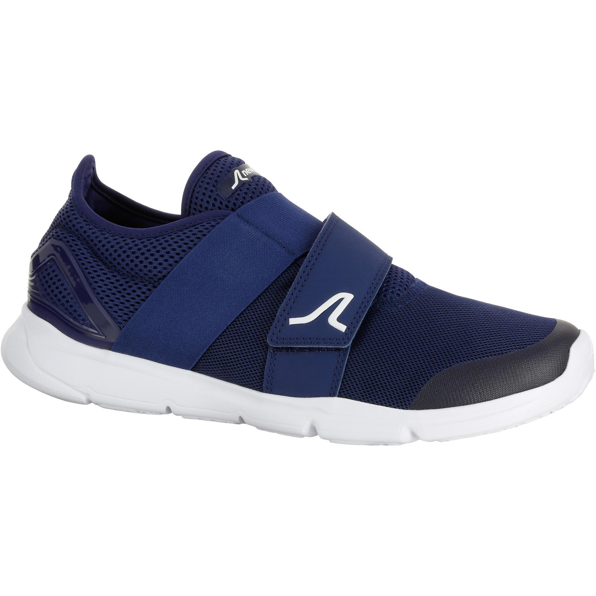 chaussures marche sportive homme soft 180 strap bleu blanc newfeel. Black Bedroom Furniture Sets. Home Design Ideas