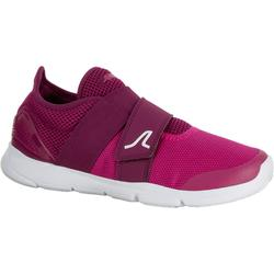 Chaussures marche sportive femme Soft 180 Strap violet / rose